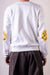 ECO Fleecy Knit Crew SWT (SMILIE Patch) - White