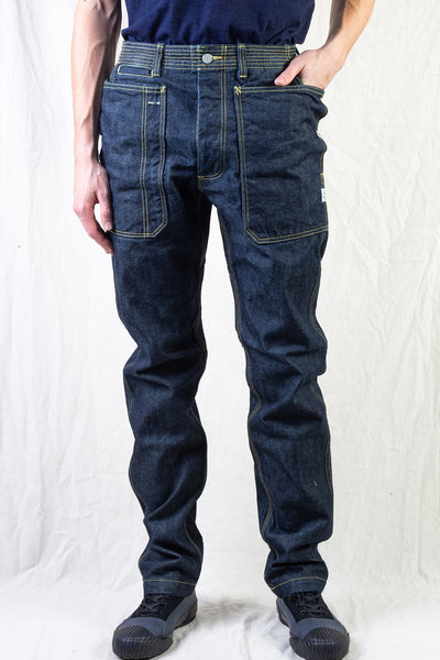 Fall Leaf Sprayer Pants - Indigo