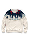 TOP Fleece Knit x BOA Fleece NORDIC SWT - Navy x Red