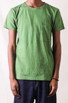 Gauze Jersey Crew Pocket T-shirt in Green