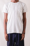 Gauze Jersey Crew Pocket T-shirt  in Ivory