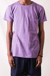 Gauze Jersey Crew Pocket T-shirt  in Purple