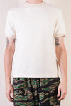 Twill Face Knit German Army Crewneck - Vintage Ivory
