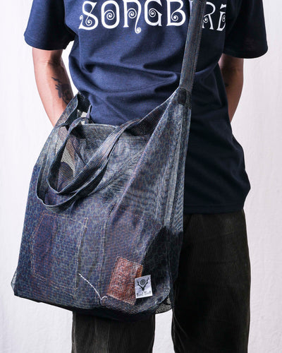 Grocery Bag Poly Heavyweight Mesh Print - Leopard