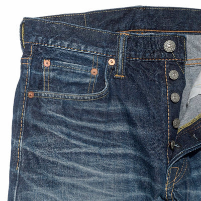 HD-019 14oz Hand Distressed Relax Tapered