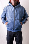 IDG Fleece Knit BIVOUAC Hooded Blouson - Indigo