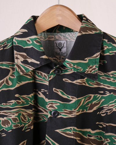 Hunting Shirt Printed Flannel Camouflage - Tiger Camo