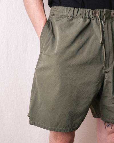 T/C Weather Cloth Water Repellent Training Shorts - Olive
