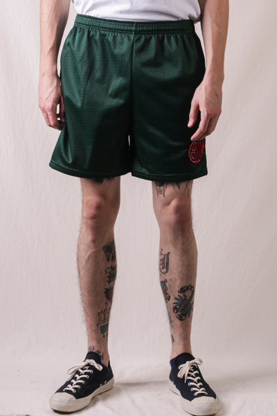 BIG Mesh Shorts With Pocket - Hunter Green