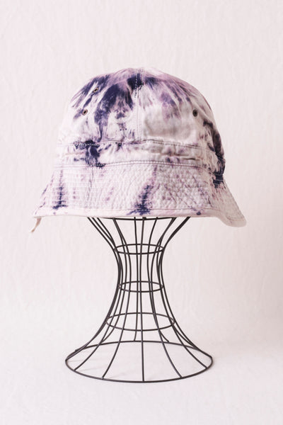 Katsuragi Bucket Hat (ASHBURY DYED) - Ecru x Purple
