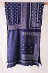 Compressed Wool Scarf Bandana Patchwork - Navy