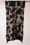 Compressed Wool Scarf BUTTERFLY - Black