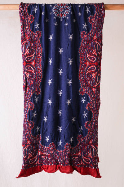 Compressed Wool Scarf COSMIC STAR - Red