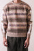 7G Wool Fair Isle BONE Crew Sweater - Moca