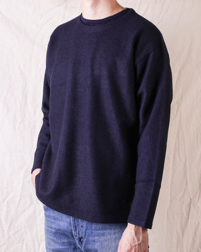 S.S. Crew Neck Shirt Sliver Knit - Navy
