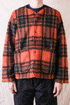 P.P. Cardigan Boa Tartan Plaid - Orange