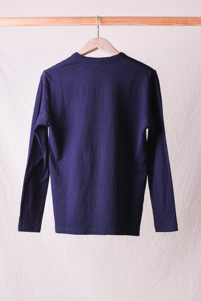 Indigo Double Face Crew L/S T-shirt