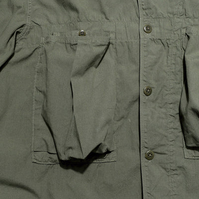 Broad Cloth Anorak Shirt - Khaki