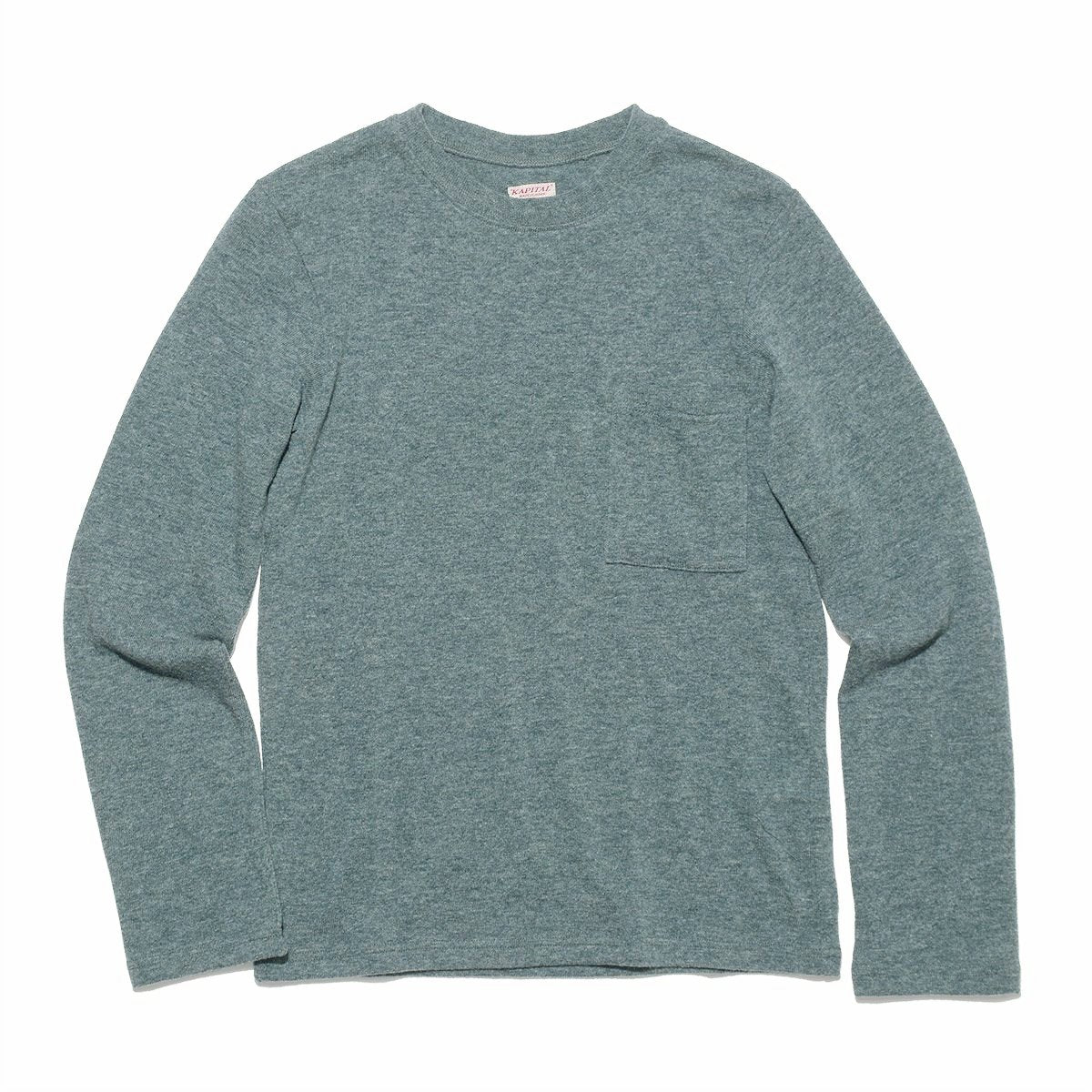 Lambs Wool Jersey Crew Long Sleeve T - Turquoise - BLUE IN GREEN SOHO acadfb9bd