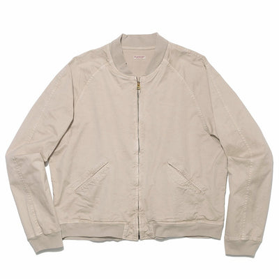 Peach-Skin Chino ZIP Blouson in Beige