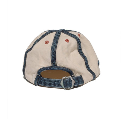 Cotton Sheeting x 8oz Denim KOLA Cap (SLEEP Embroidery) in Natural