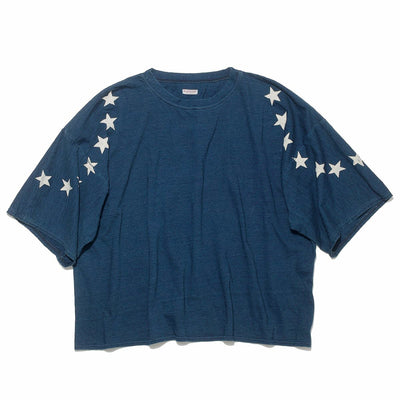 Indigo Dyed Jersey HUGE T (Betsy Ross)