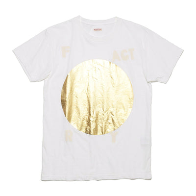 20/- Jersey Crew T (FACTORY) in White with Gold