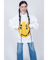 Fleece Knit RAIN SMILE Hoodie SWT - White