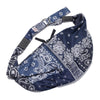 Gauze Bandana Beach Snuffkin Bag - Purple Navy