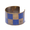 Brass Ichimatsu Bangle (Thin)