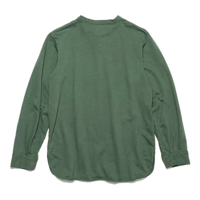 Swedish Army High Gauge Inlay Pullover Shirt (Banded Collar) - Olive Green