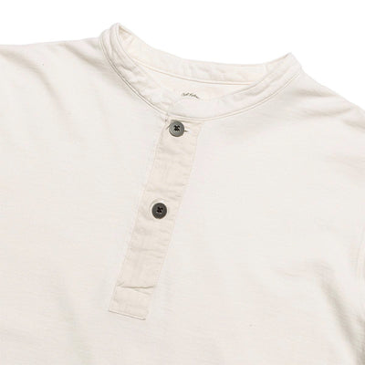 Swedish Army High Gauge Inlay Pullover Shirt (Banded Collar) - Pearl Ivory