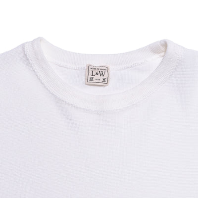 Vintage Inspired Army Rib Knit S/S Crew Tee - Pure White