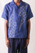 French Cloth Linen Aloha Shirt (THUNDER SASHIKO)