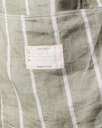 Linen PHILLIES Stripe CACTUS Coverall - Khaki