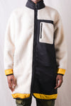 Fleece Long Jacket - Ivory