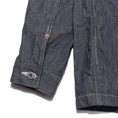 Indigo Pin Stripe Chore Jacket
