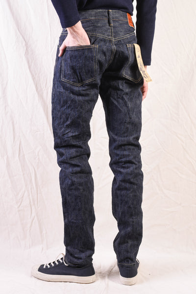 ONI-642NIKHN 18oz Extra Slub Natural Indigo Mid Rise Relaxed Tapered