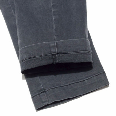 Tapered Chino Stretch Pants in Charcoal