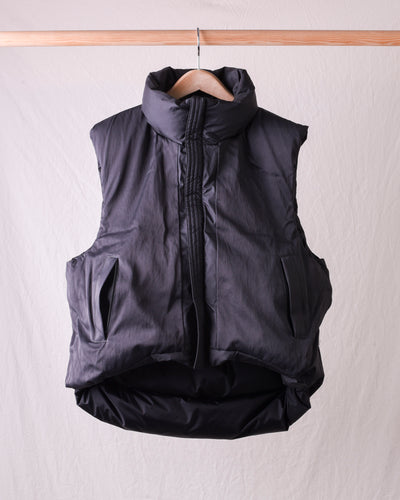 Rip Stop Nylon Down BURGER KEEL Vest - Black