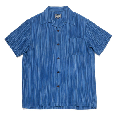 Indigo Kasuri S/S Shirt - Light Indigo