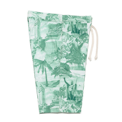"Sweat Shorts ""Coconut Tree Climber"" in Green"