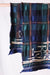 Compressed Wool Scarf TARTAN AINU - Navy