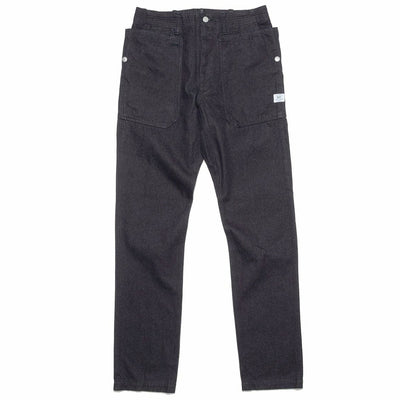 Indigo Chino Denim Fall Leaf Sprayer Pants