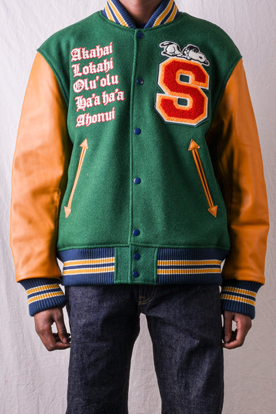 30's Wool Melton Sunsurf x PEANUTS Award Jacket