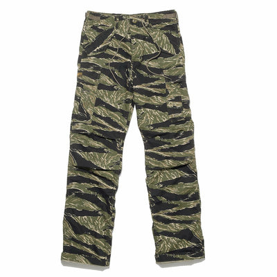 Military Cargo Ripstop Trousers - Tiger Stripe