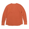 Double Face Wire Mesh Thermal Henley - Russet Orange