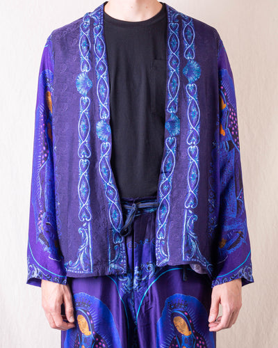 KOUNTRY Rayon Virgin Mary KAKASHI Shirt - Purple