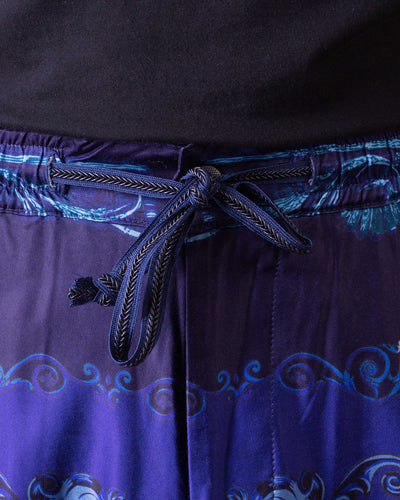 KOUNTRY Cotton Rayon Virgin Mary Easy Pants - Purple