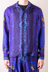 KOUNTRY Rayon Virgin Mary Open Collar Shirt - Purple